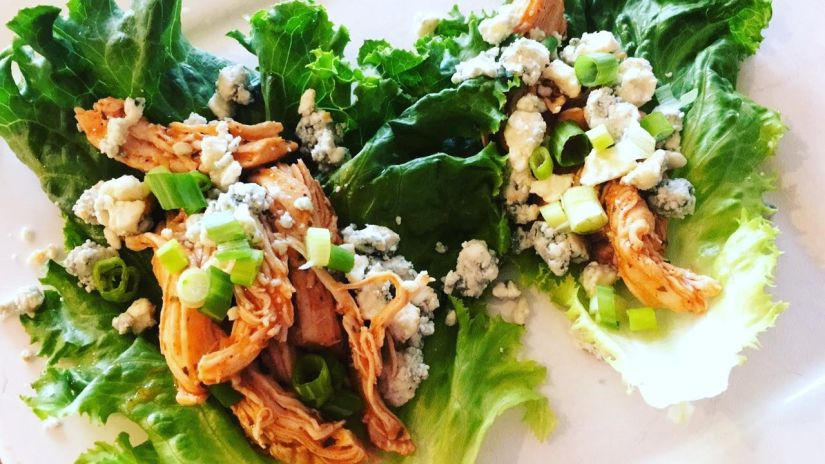 Healthy Buffalo Chicken Lettuce Wraps & Bowls