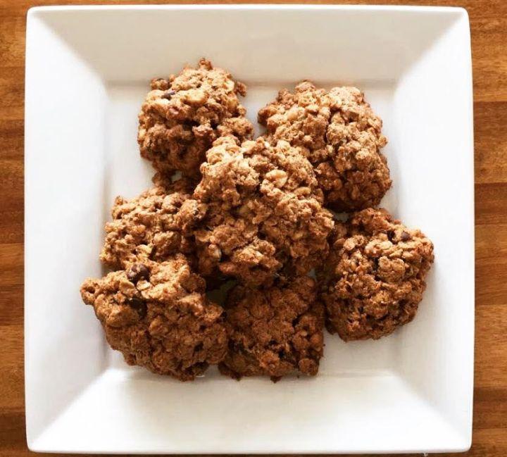 Flourless Peanut Butter & Chocolate Chip MonsterCookies